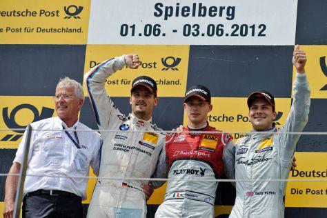 DTM Siegerehrung in Spielberg 2012