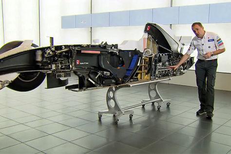 F1-Auto im Querschnitt
