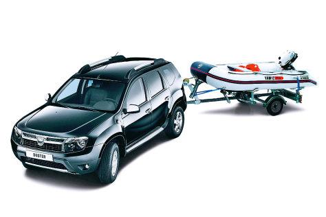 Dacia Duster mit Yamaha-Schlauchboot