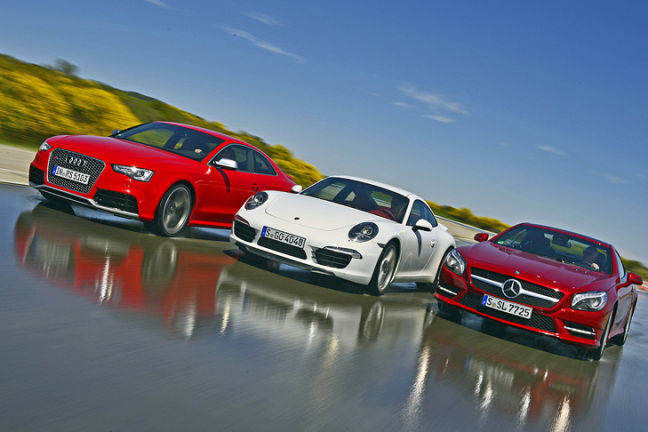 Video: Audi RS 5, Porsche 911, Mercedes SL
