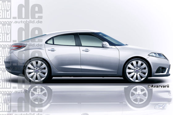 Elektro-Saab 9-3 (Illustration)