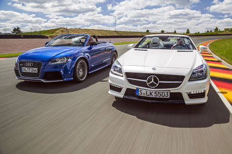 Audi TT RS Plus Roadster Mercedes SLK 55 AMG