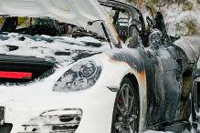 Porsche vor G20 abgefackelt
