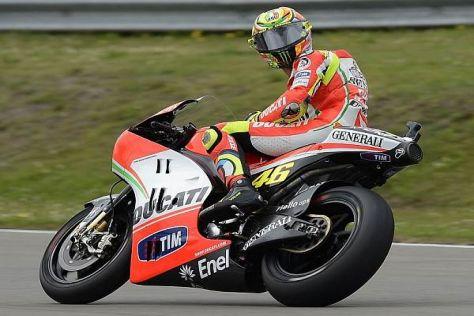 Der Hinterreifen machte bei Valentino Rossi Probleme und bald schlapp