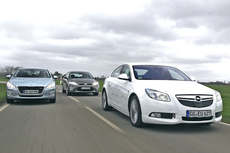 Peugeot 508, Opel Insignia, Ford Mondeo