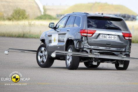 Jeep Grand Cherokee in Euro-NCAP-Crashtest