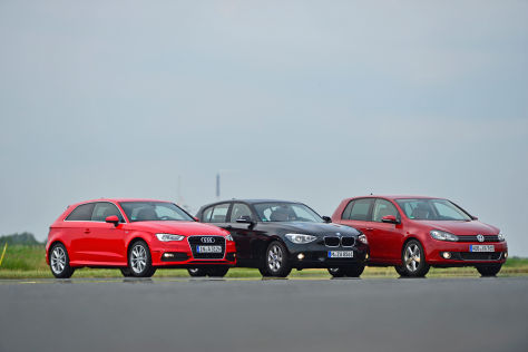 Audi A1 BMW 1er VW Golf