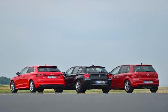 Audi A1 BMW 1er VW Golf