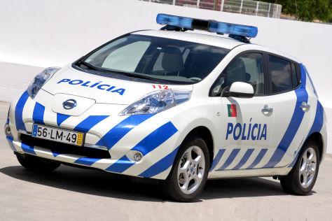 Nissan Leaf als Polizeiwagen