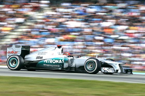 Michael Schumacher im Mercedes W03