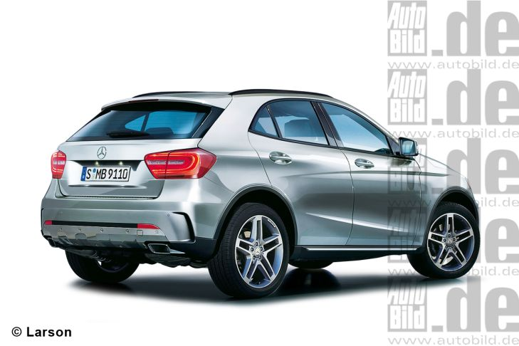 Neuer Mercedes GLA Illustration