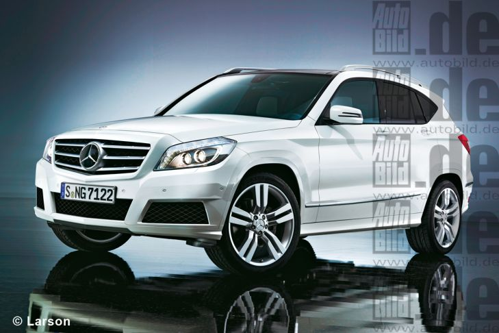 Neuer Mercedes GLK Illustration