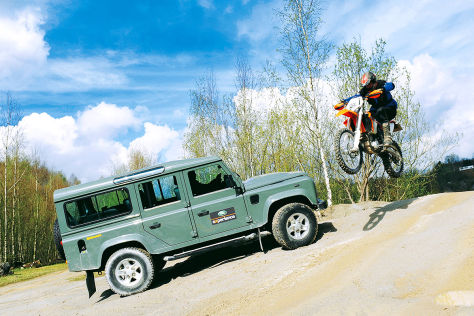 Land Rover Defender KTM 350 EXC-F