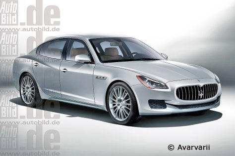 Maserati Quattroporte Illustration