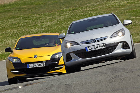 Opel Astra OPC Renault Mégane RS