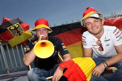 Deutschlands große Hoffnungen: Sebastian Vettel und Nico Rosberg