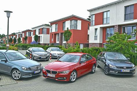BMW 3er Ford Mondeo Mercedes C-Klasse Opel Insignia VW Passat