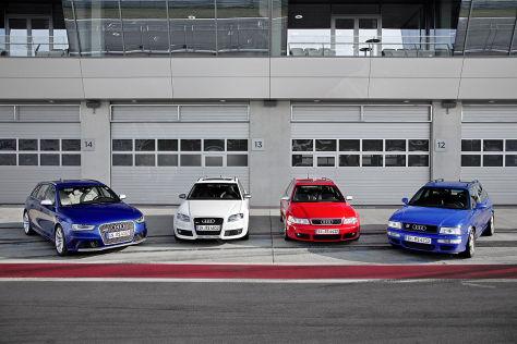 Vom RS2 bis zum RS4 Avant: Gestern und heute