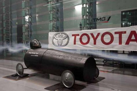 Seifenkiste im Toyota-Windkanal
