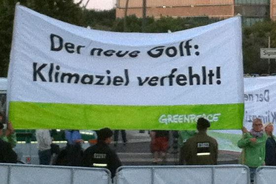 Greenpeace gegen Golf VII