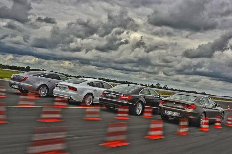 Audi A7 BMW 6er Jaguar XJ Mercedes CLS