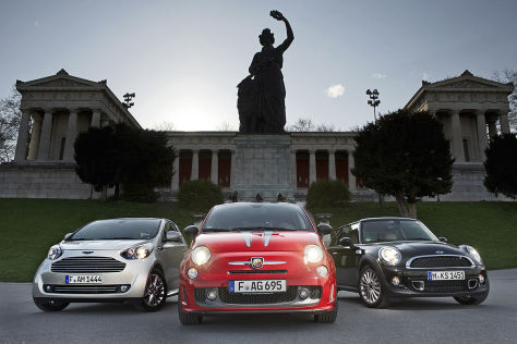 Aston Martin Cygnet Fiat Abarth 695 Tributo Ferrari Mini Goodwood