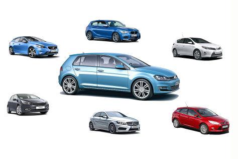 VW Golf VII: Seine Kunkurrenten