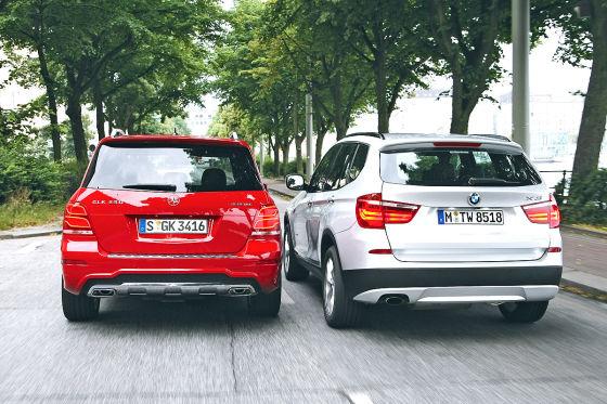 BMW X3 Mercedes GLK