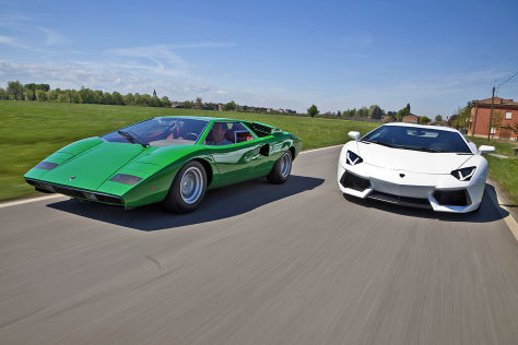 Lamborghini Countach LP 400 Lamborghini Aventador LP 700-4 