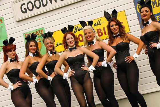 Showgirls in Goodwood 2012