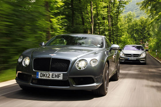 Bentley Continental Gt V8 Mercedes Cl 63 Amg Pp Test