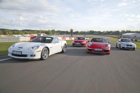 Audi TT RS plus BMW M3 Coupé Competition Chevrolet Corvette Grand Sport Porsche 911 Carrera S