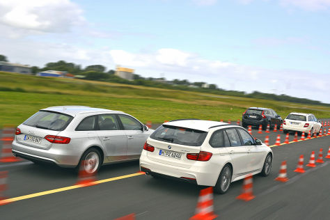 Audi A4 Avant BMW 3er Touring Mercedes C-Klasse T-Modell Volvo V60