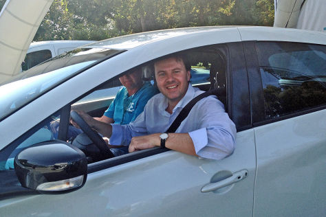 Hauke Schrieber im Renault Zoe