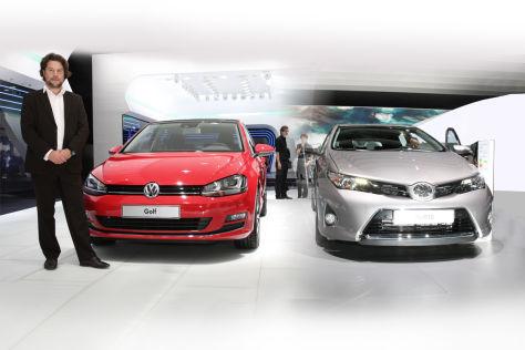 Vergleich Golf mit Toyota Auris