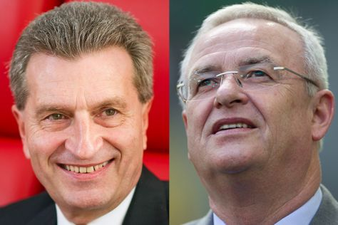 Günter Oettinger und Martin Winterkorn (re.)