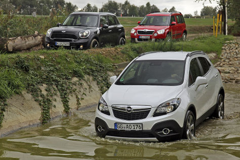 Mini Countryman Opel Mokka Skoda Yeti