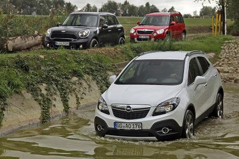Mini Countryman Opel Mokka Skoda Yeti