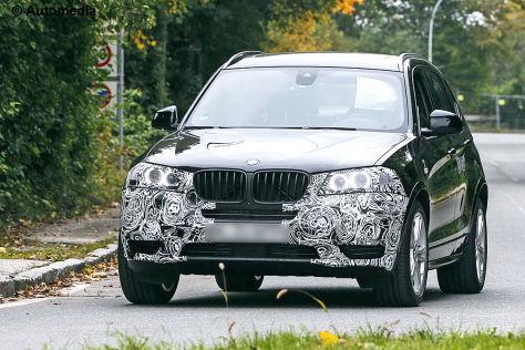 BMW X3 Facelift: Erlkönig