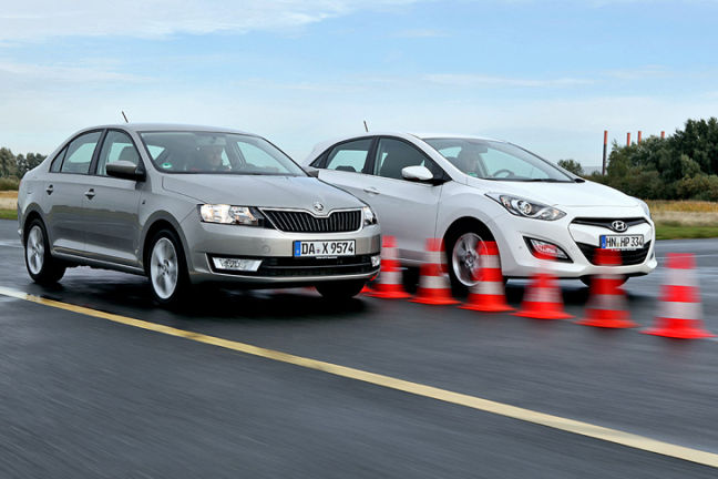 Video: Hyundai i30, Skoda Rapid