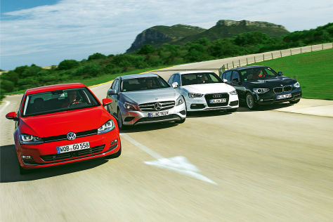 Audi A3 BMW 1er Mercedes A-Klasse VW Golf