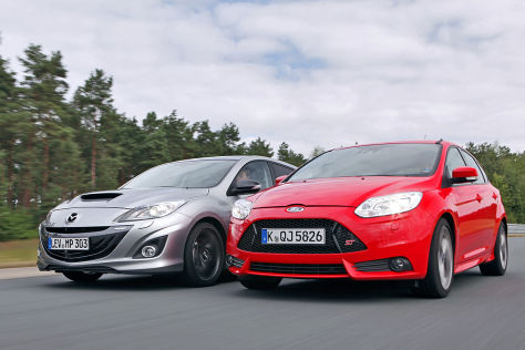 Mazda3 MPS/Ford Focus ST: Test