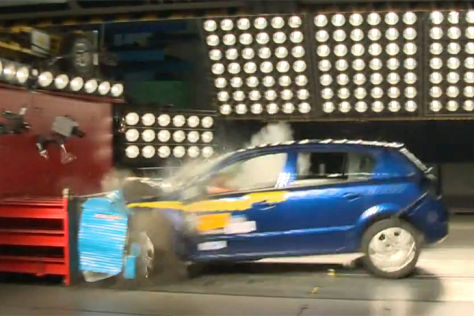 Crashtest des ADAC