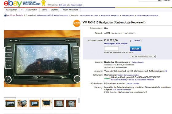 Navi bei Ebay