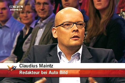 Redakteur Claudius Maintz bei Stern TV