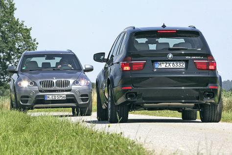 Diesel Vs Benziner Bmw X5 M50d Trifft Auf X5 50i