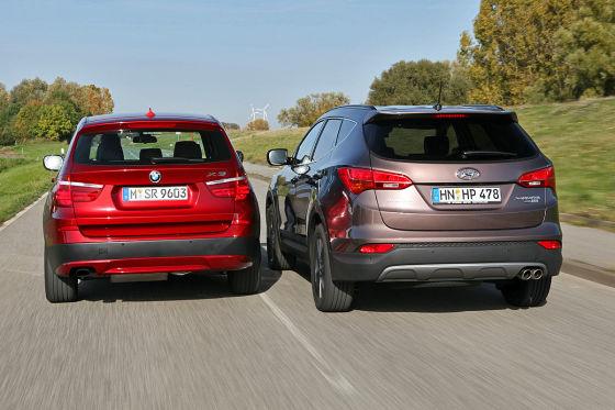 BMW X3 Hyundai Santa Fe