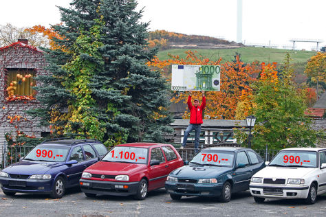 Opel Vectra, VW Golf, Daewoo Nexia, Skoda Felicia