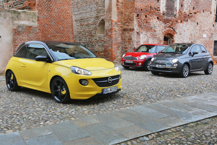 Fiat 500 Mini One Opel Adam