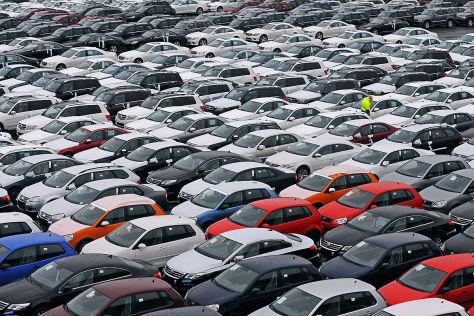 Autoterminal der BLG Automobile Logistics Group in Bremerhaven
